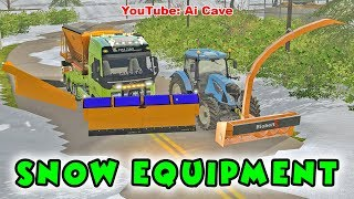 Snow blower vs truck with snow plow - Farming Simulator 2017 Mods