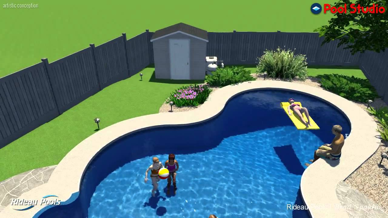 14 x 30 vista inground pool by rideau pools ottawa youtube for Pool design ottawa