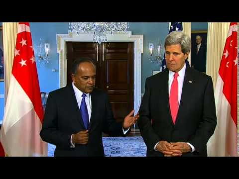 Secretary Kerry Delivers Remarks With Singaporean Foreign Minister Shanmugam