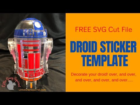 littleBits Star Wars Droid Inventor Kit SVG Silhouette Sticker Decal Cut  File
