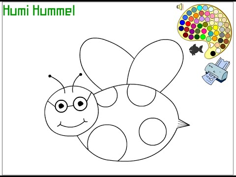 Bumble Bee Coloring Pages For Kids