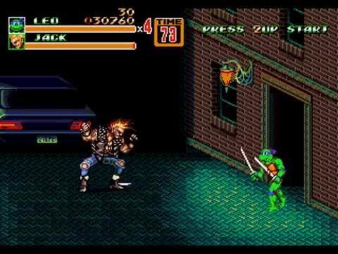 Teenage Mutant Ninja Turtles Streets Of Rage 2 Sega Genesis Game Hack Youtube