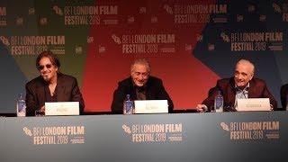 """The Irishman"" Press Conference - LFF 2019 - Martin Scorsese, Robert De Niro, Al Pacino"
