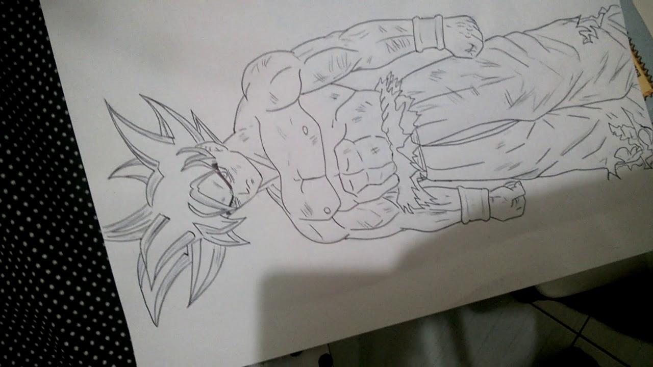 Desenho Goku Instinto Superior - YouTube