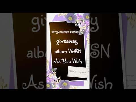 Pemenang Giveaway Album WJSN - As You Wish