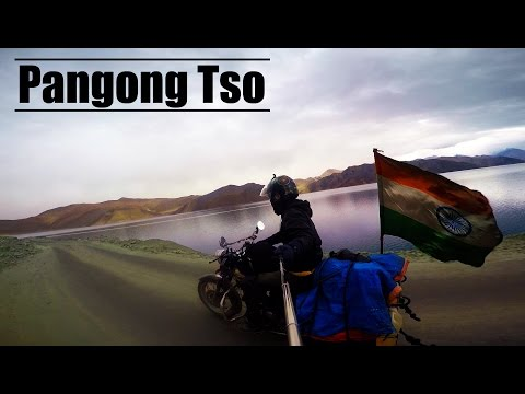 Pangong Tso    Ladakh    KK Gautam    Motorcycle Travel Video    Royal Enfield    India   
