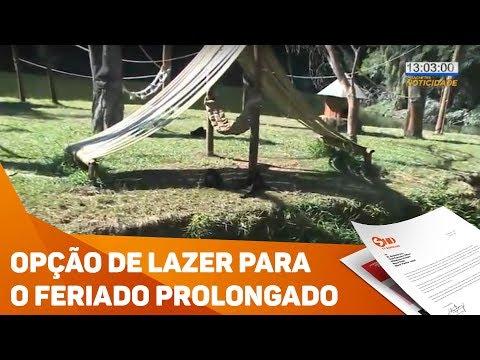 Opção de lazer para o feriado prolongado - TV SOROCABA/SBT