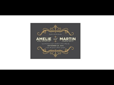 How to Create a Wedding Invitation in Illustrator thumbnail