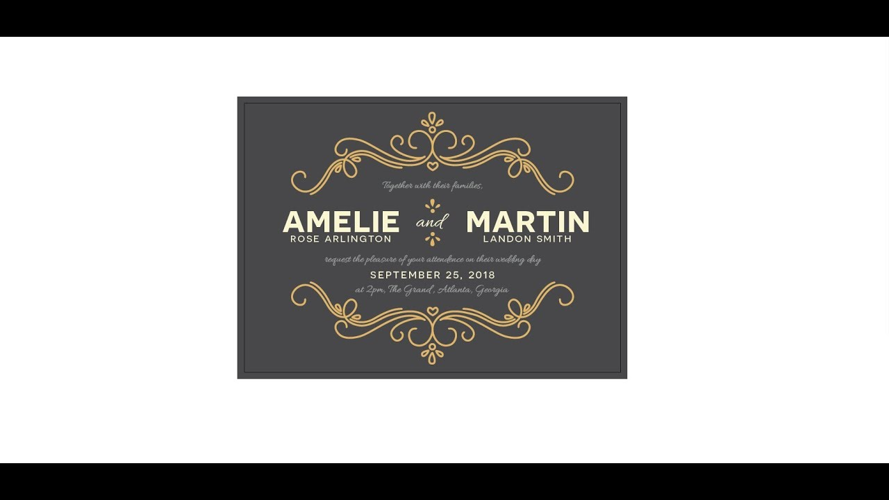 How to Create a Wedding Invitation in Illustrator - YouTube