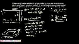 Sistemas de ecuaciones - Lámina rectangular - Método Sustitución