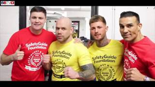 FORMER WORLD CHAMP ROBIN REID BRINGS THE 'SAFETY GUIDE FOUNDATION AGAINST KNIFE CRIME TO HIS OLD GYM