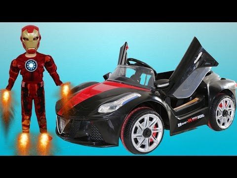 Ironman Unboxing Super 12V Battery Powered Ride On Car Park Test Drive Ckn Toys
