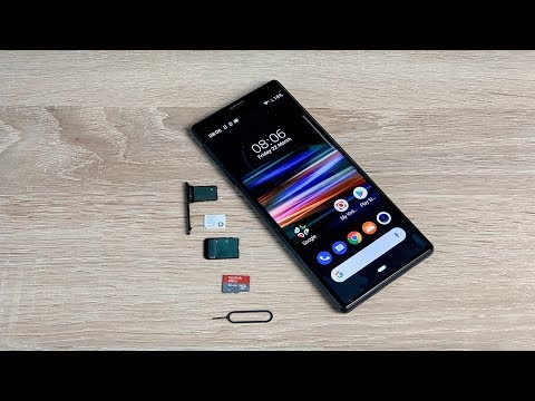 How To Insert Sim And SD Card Into Sony Xperia 10