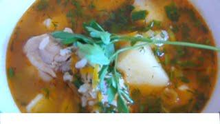 Томатный суп с рисом.Очень вкусно