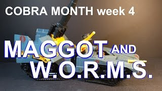 HCC788 - Cobra MAGGOT and WORMS - COBRA MONTH vintage G. I. Joe toy review! HD