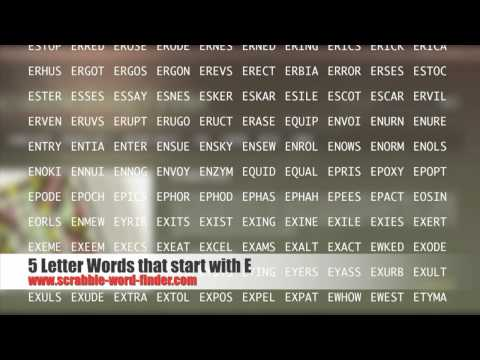 5 letter words that start with E