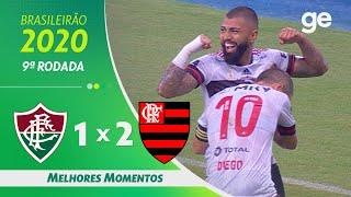 FLUMINENSE 1 X 2 FLAMENGO | MELHORES MOMENTOS | 9ª RODADA BRASILEIRÃO 2020 | ge.globo