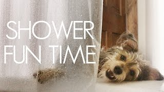 Showering with Waffle