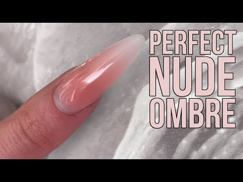 Perfectly Sculpted Nude Ombre Nail Design - New Acrylic Powders