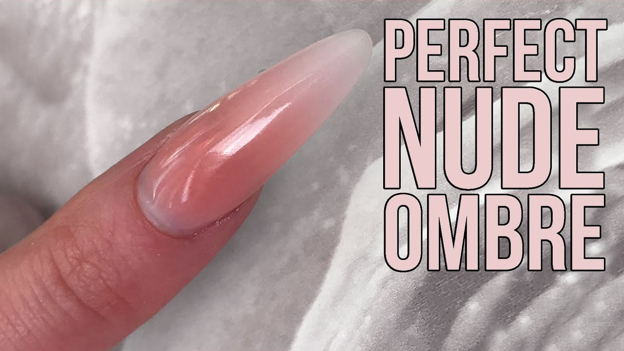 Perfectly Sculpted Nude Ombre Nail Design - New Acrylic Powders - Perfectly Sculpted Nude Ombre Nail Design - New Acrylic Powders