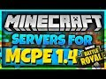 SERVERS FOR MINECRAFT PE 1.4 - BEST SERVERS FOR MINECRAFT BEDROCK EDITION 1.4.0/1.4.2/1.4.3/1.4.4