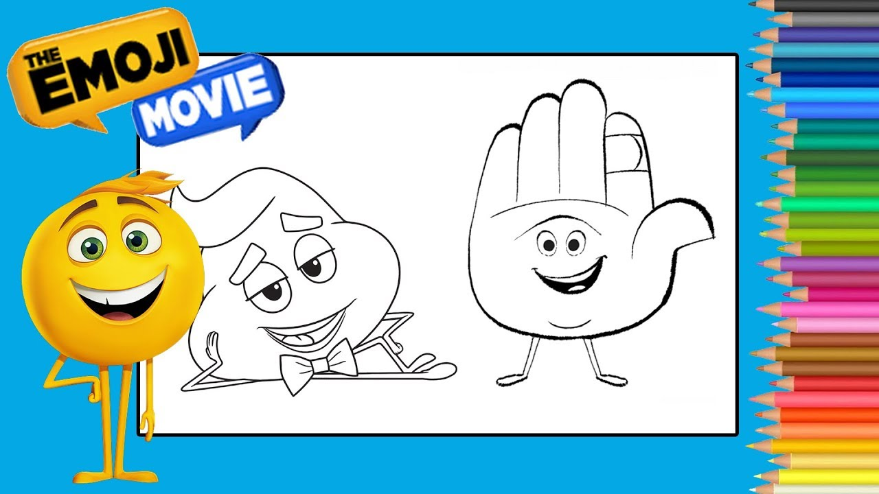 Coloring Poop Emoji The Emoji Movie Coloring Book Page Coloriage