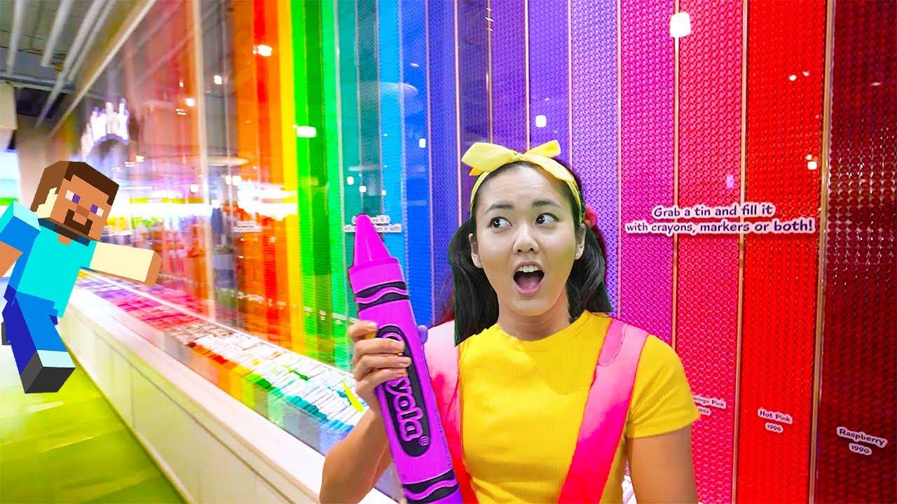 Ellie Sparkles DIY Crayon Arts & Crafts Experiment at Crayola Factory