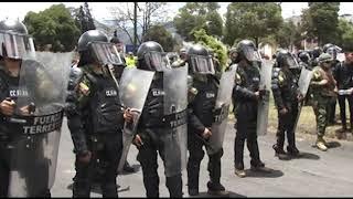 Protestas y cierre de vías en el sur de Quito