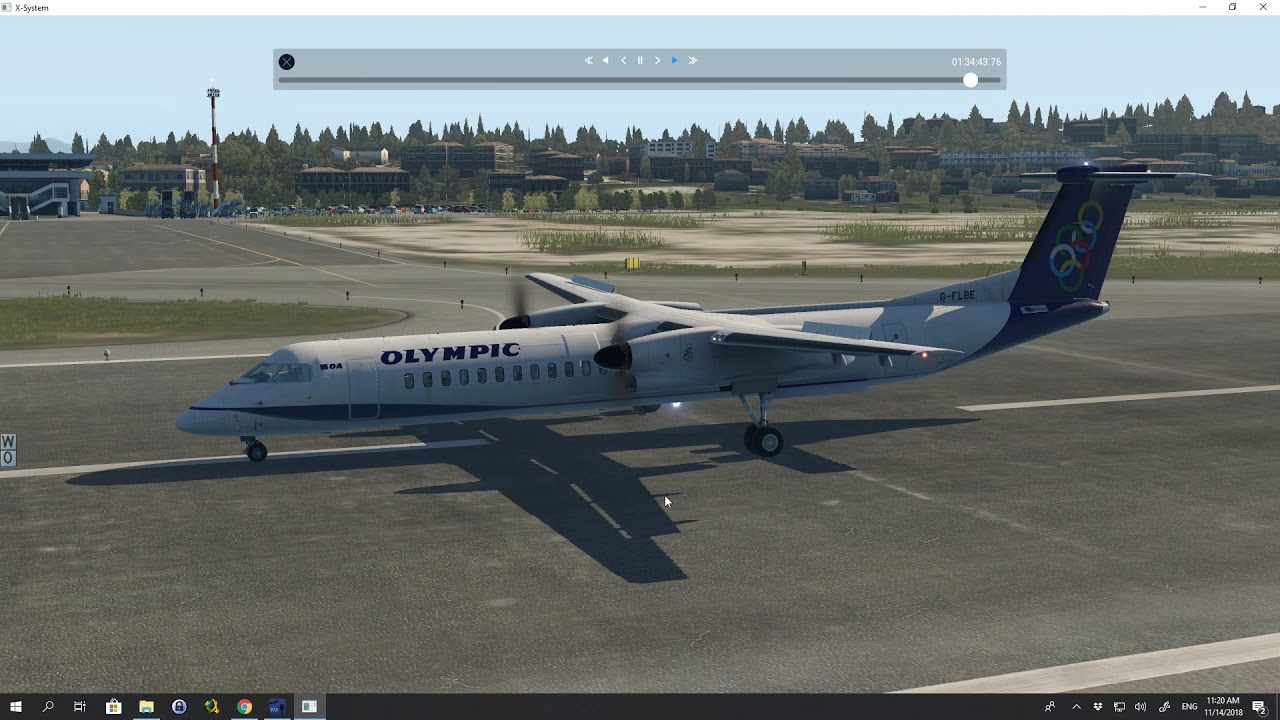 XP 11 FJS Dash 8 Q400 landing at LGKR  - Βασίλης Τζίμας - imclips net