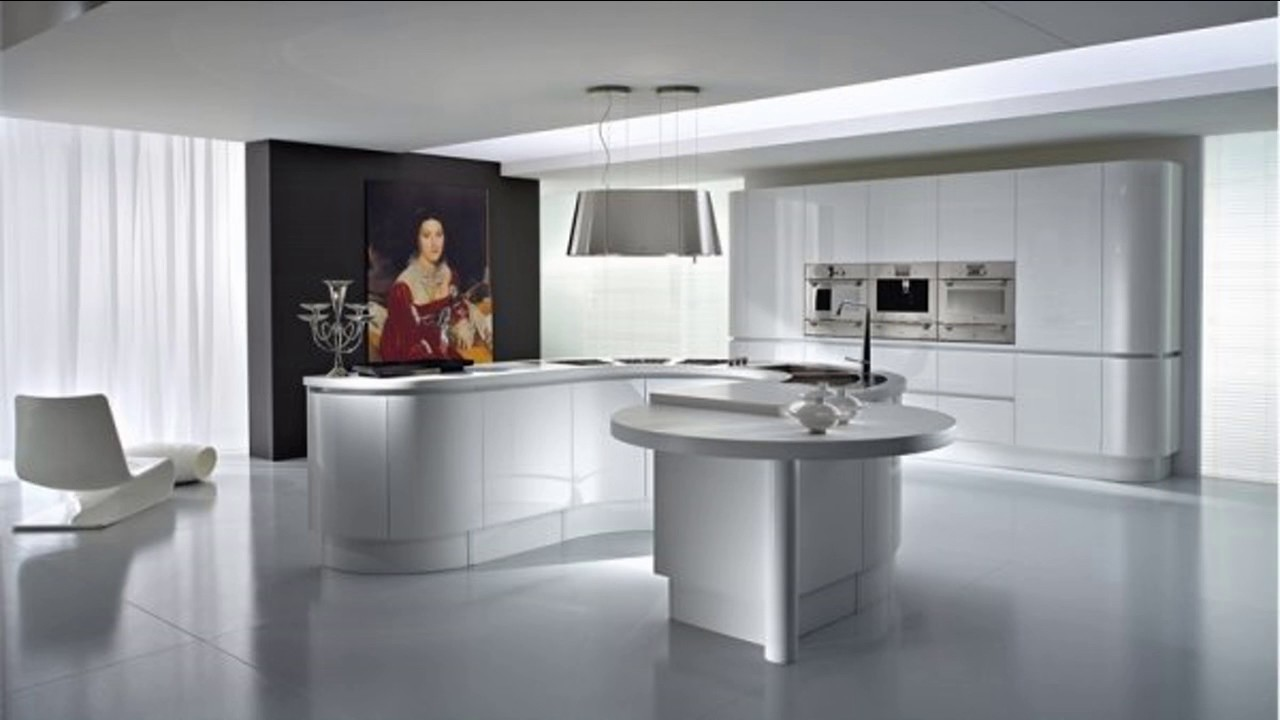 Diseño de Cocinas blancas y gris modernas2 - YouTube
