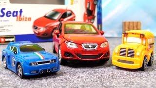 Видео про машинки. Конструктор для детей. Испанский автомобиль SEAT Ibiza(Мультфильм про машинки из игрушек, в котором все главные герои - это автомобили. И собирают они конструктор..., 2015-04-17T05:21:44.000Z)