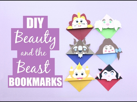 DIY Beauty and the Beast Bookmarks Tutorial
