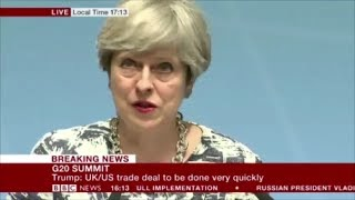 EU says UK cant talk to Trump about new trade deals, PM ignores them
