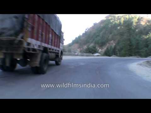 Himalayan Driving from Theog near Shimla to Narkanda in Himachal  Part 1