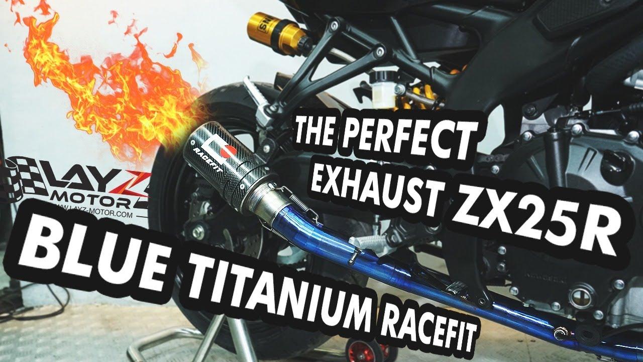 YANG INI BENER-BENER AUTO GACOR PIPA NYA TITANIUM BLUE! RACEFIT ZX25R