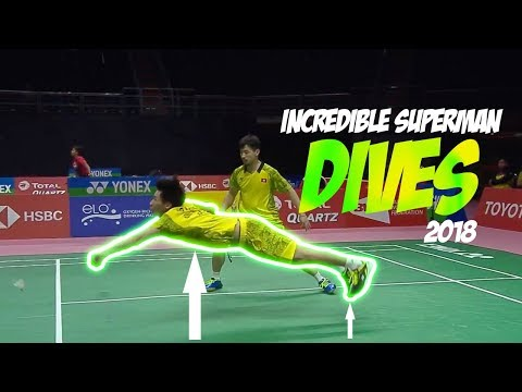 Incredible Superman Badminton Dives 2018 | Amazing Speculation Badminton Dives 2018 | God of Sports
