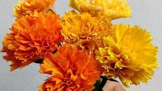 Paper Flowers Marigold / Genda Phool (Flower # 73)