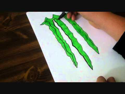 monster energy speed drawing youtube. Black Bedroom Furniture Sets. Home Design Ideas