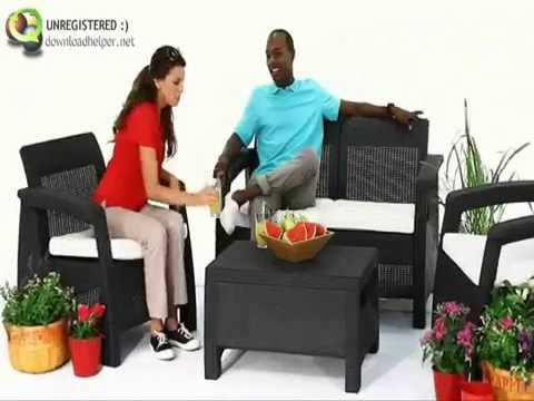 Set Corfu allibert muebles de jardin - YouTube