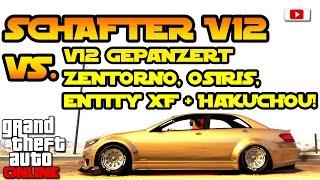 GTA 5 Online -  Schafter V12 Speed Test VS. V12 Gepanzert, Zentorno, Osiris, Entity XF & Hakuchou!