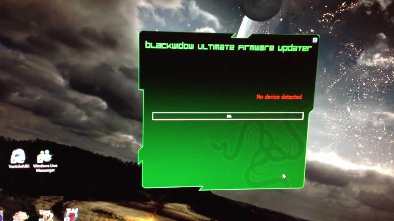FIX for Razer Blackwidow firmware update (pre-Synapse)