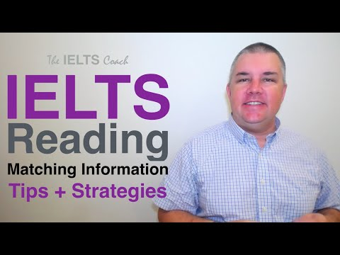 IELTS Reading Matching Strategy And Tips