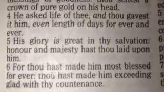 AKJV Kjv Psalm 21