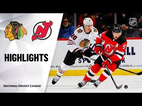 NHL Highlights   Blackhawks @ Devils 12/6/19