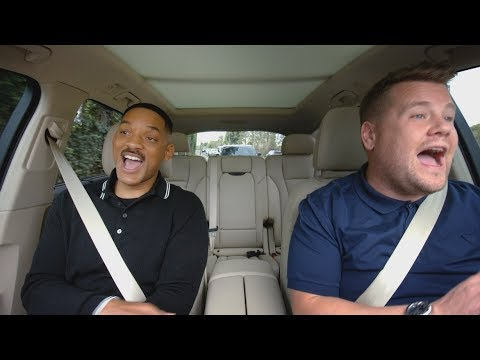 Thumbnail: Apple Music — Carpool Karaoke — Will Smith and James Corden Preview