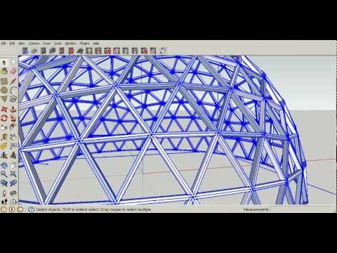 Geodesic Dome Framing Plan Tutorial 9 Construction Youtube