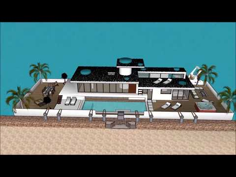 Billionaire Houseboat casa flotante waterfront property in Argentina Buenos Aires high end floating