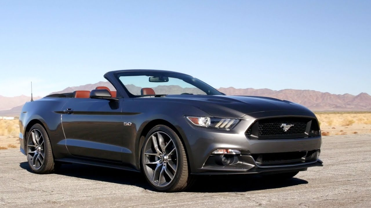 2015 ford mustang convertible footage youtube. Black Bedroom Furniture Sets. Home Design Ideas