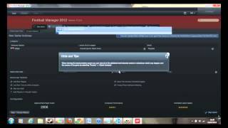 Football Manager 2012 Tutorial: How to set up a network game on Football Manager