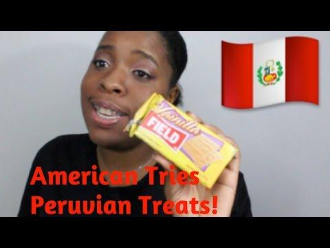 American Tries Peruvian Treats!